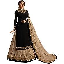 RUHANI Womens Anarkali Salwar Kameez Velvet Designer Indian Dress Bollywood Ethnic Party